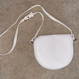 White over the shoulder purse